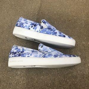 Michael Kors Shoes - Michael Kors blue & white floral sneakers